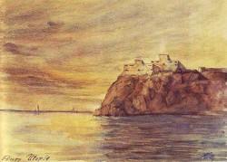 Adolf Hitler, Burg Utopia, 1909, aquarelle, 18 x 25 cm