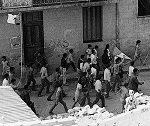 Photo d'une manifestation en Algérie à l'été 1961