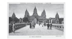 Vue de la reconstitution du temple d'Angkor à l'exposition coloniale de 1931