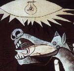 Détail du cheval halluciné dans Guernica de Pablo Picasso