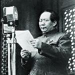Mao Zedong annonce la création de la République populaire de Chine, le 1er octobre 1949.