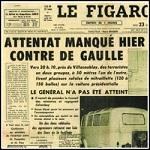 Photo de la une du Figaro sur l'attentat du Petit-Clamart