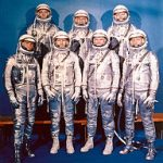 Photo des sept astronomes du programme Mercury en 1961