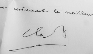 Signature de Claude Simon