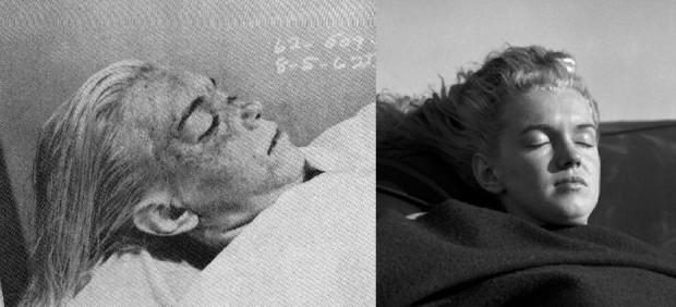 Marilyn Monroe morte et mimant sa mort