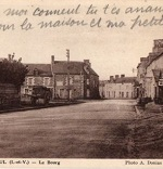 Détail d'une carte postale de Marcillé-Raoul dans les années 1960