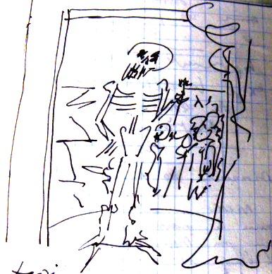Autoportrait dessiné en janvier 1985