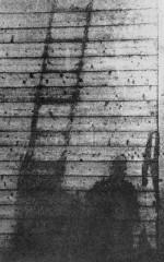 Ombre consécutive à l'explosion de la bombe atomique à Hiroshima